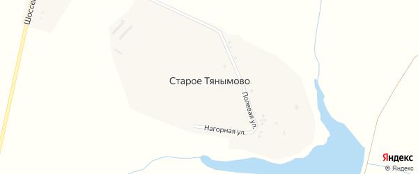 Нагорная улица на карте деревни Старое Тянымово с номерами домов
