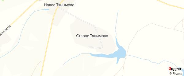 Карта деревни Старое Тянымово в Чувашии с улицами и номерами домов