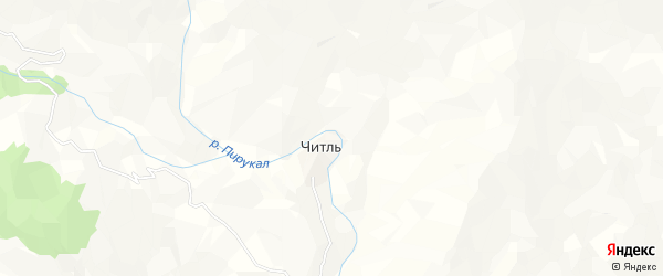 Карта села Читля в Дагестане с улицами и номерами домов