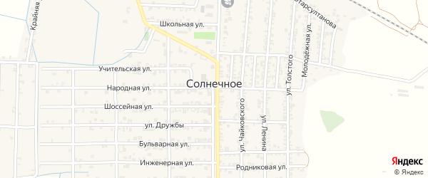 Строительная улица на карте Солнечного села с номерами домов
