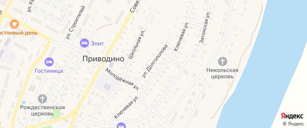 Улица Долгополова на карте поселка Приводино с номерами домов