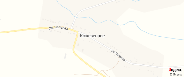 Улица Чапаева на карте Кожевенного села с номерами домов