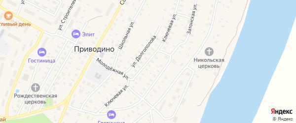 Ключевая улица на карте поселка Приводино с номерами домов