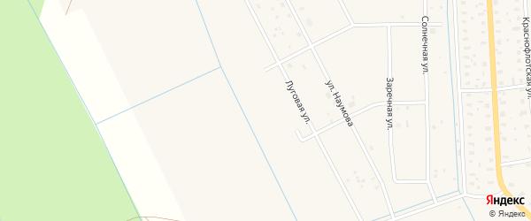 Луговая улица на карте садового некоммерческого товарищества СОТ Двинские Зори с номерами домов