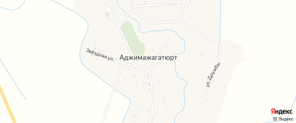 Северная улица на карте села Аджимажагатюрта с номерами домов