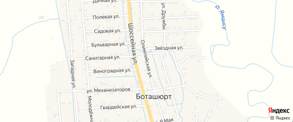 Олимпийская улица на карте села Гоксувотар с номерами домов