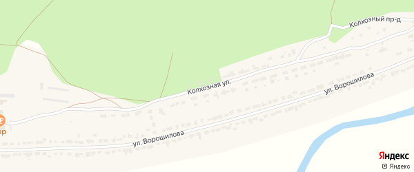 Колхозная улица на карте села Чуварлеи с номерами домов