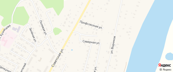 Северная улица на карте поселка Приводино с номерами домов