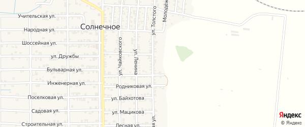 Улица Толстого на карте Солнечного села с номерами домов