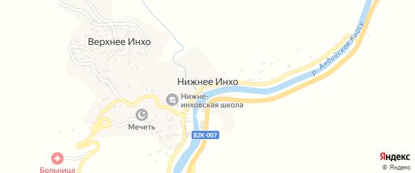 Центральная улица на карте села Нижнего Инхо с номерами домов