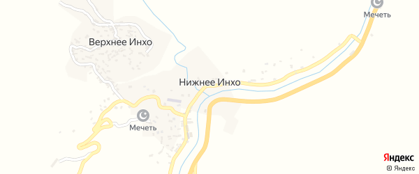 Улица Имени Алигаджи из Инхо на карте села Нижнего Инхо с номерами домов