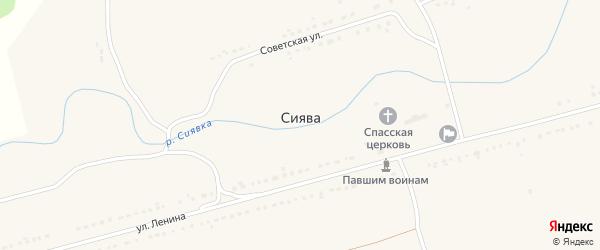 Пролетарская улица на карте села Сиявы с номерами домов