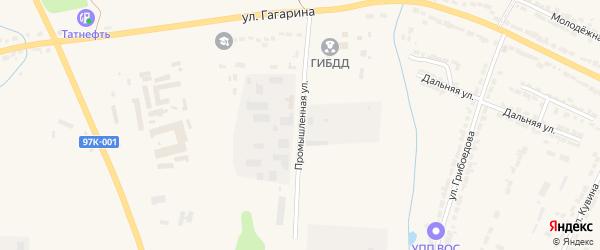 Промышленная улица на карте Алатыря с номерами домов