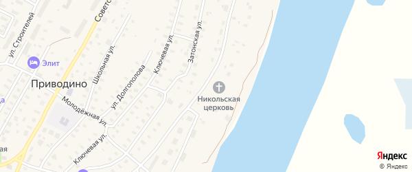 Улица Водников на карте поселка Приводино с номерами домов