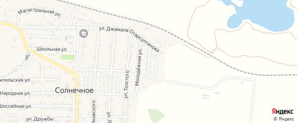 Речная улица на карте Солнечного села с номерами домов