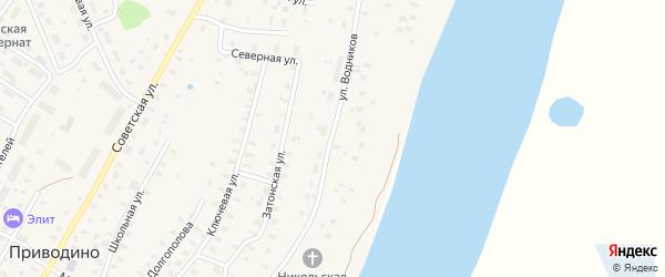 Улица Водников на карте садового некоммерческого товарищества СОТА Портовика-1 с номерами домов