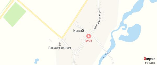 Центральная улица на карте деревни Кивого с номерами домов