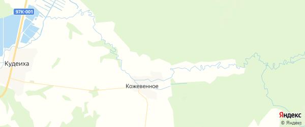 Карта Кудеихинского сельского поселения республики Чувашия с районами, улицами и номерами домов