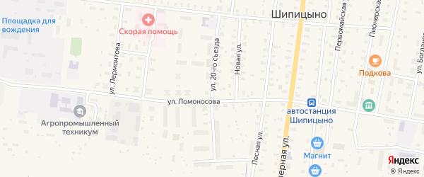 Улица 20 Съезда на карте поселка Шипицыно с номерами домов