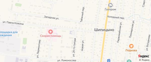 Заводская улица на карте поселка Шипицыно с номерами домов