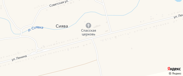 Улица Ленина на карте села Сиявы с номерами домов