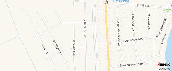 Солнечная улица на карте поселка СОТА Темпа с номерами домов