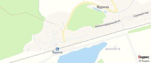 Лесная улица на карте деревни Ядрихи с номерами домов