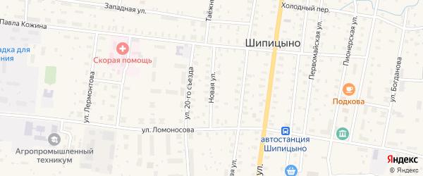 Новая улица на карте поселка Шипицыно с номерами домов