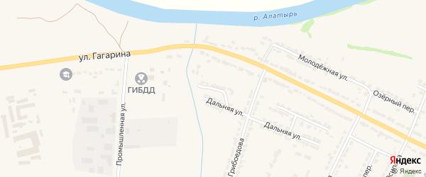 Дальний проезд на карте Алатыря с номерами домов