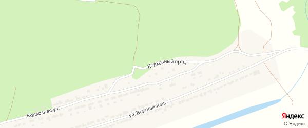 Колхозный проезд на карте села Чуварлеи с номерами домов