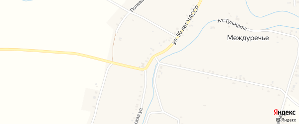 Красноармейская улица на карте села Междуречья с номерами домов