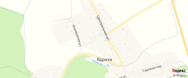 Полевой переулок на карте деревни Ядрихи с номерами домов
