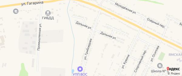 Улица Грибоедова на карте Алатыря с номерами домов