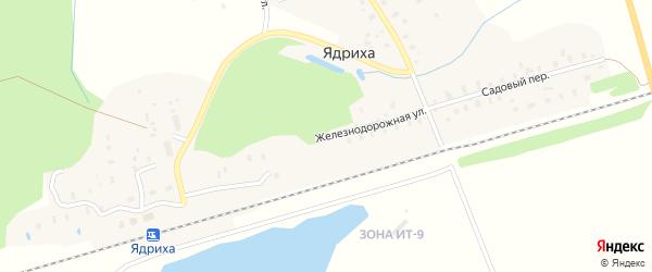 Железнодорожная улица на карте железнодорожной станции Новой Гари с номерами домов