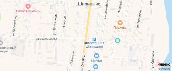 Северная улица на карте садового некоммерческого товарищества СОТА Рябинушки с номерами домов