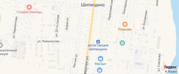 Северная улица на карте поселка Шипицыно с номерами домов