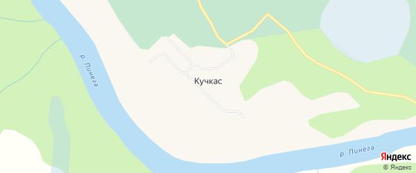 Карта деревни Кучкаса в Архангельской области с улицами и номерами домов