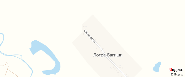 Садовая улица на карте деревни Лотра-Багиши с номерами домов