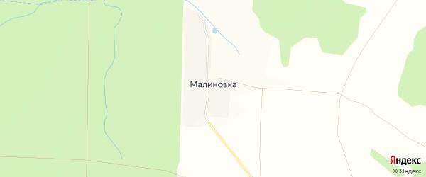 Карта поселка Малиновки в Чувашии с улицами и номерами домов