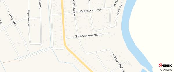 Заовражный переулок на карте поселка Шипицыно с номерами домов