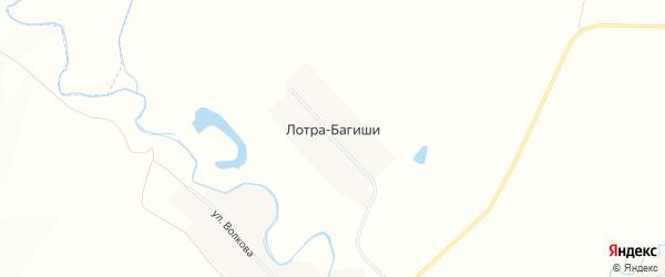 Карта деревни Лотра-Багиши в Чувашии с улицами и номерами домов
