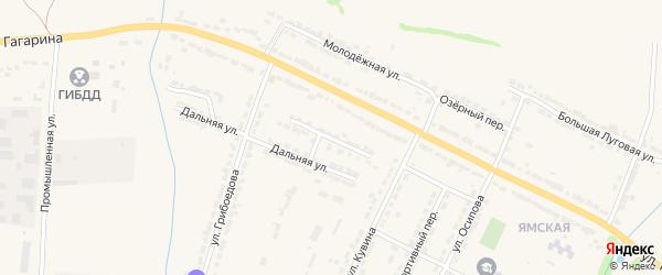Зеленый тупик на карте Алатыря с номерами домов
