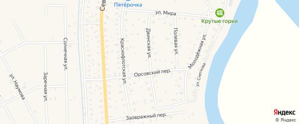 Двинская улица на карте поселка Шипицыно с номерами домов