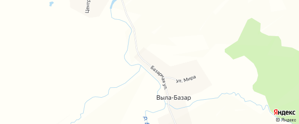 Карта деревни Вылы-Базар в Чувашии с улицами и номерами домов
