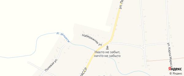 Набережная улица на карте села Междуречья с номерами домов