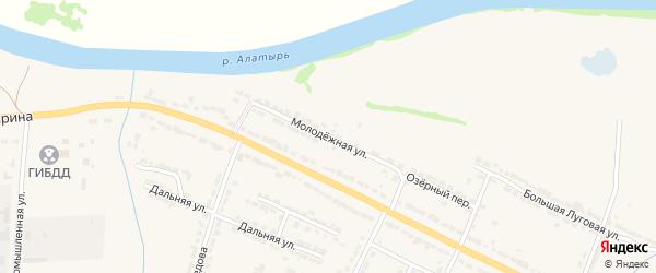 Молодежная улица на карте Алатыря с номерами домов