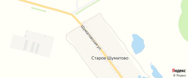 Шуматовская улица на карте поселка Старое Шуматово с номерами домов