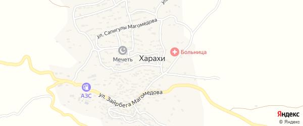 Улица Генерала Гаджиева Г. на карте села Харахи с номерами домов