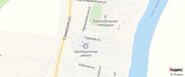 Садовая улица на карте поселка Шипицыно с номерами домов