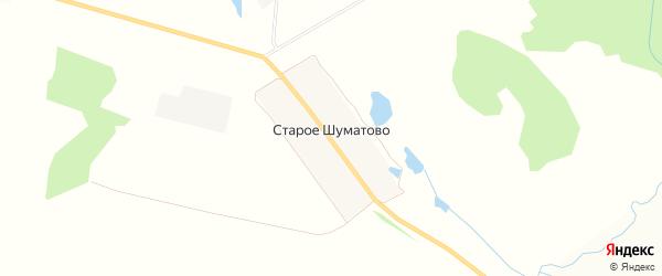 Карта поселка Старое Шуматово в Чувашии с улицами и номерами домов